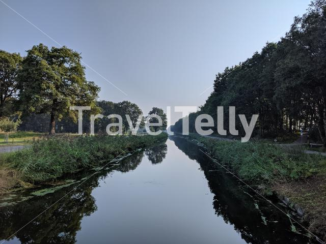 Canal around Linde in The Netherlands