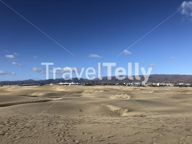 The sand dunes of Maspalomas on Gran Canaria