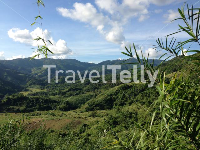 Green mountains landscape in north Thailand