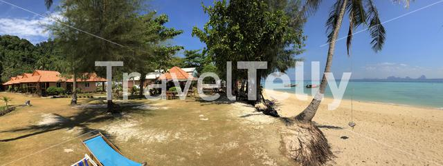 Panorama from a Beach resort at Koh Ngai island in Thailand