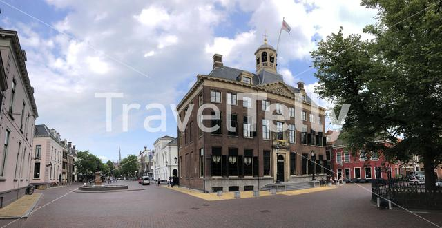 Panorama from the city hall in Leeuwarden, Friesland The Netherlands