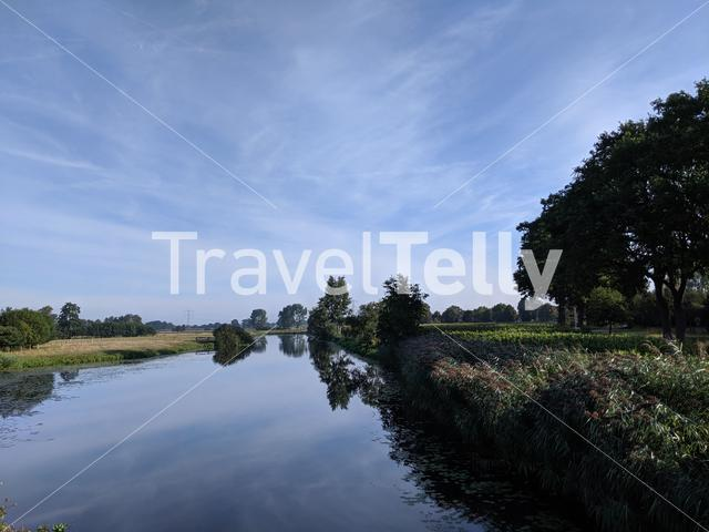 Canal around Schuilenburg in Overijssel, The Netherlands