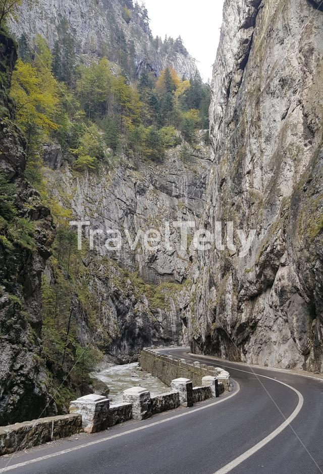 Road through the Bicaz Gorge in Romania
