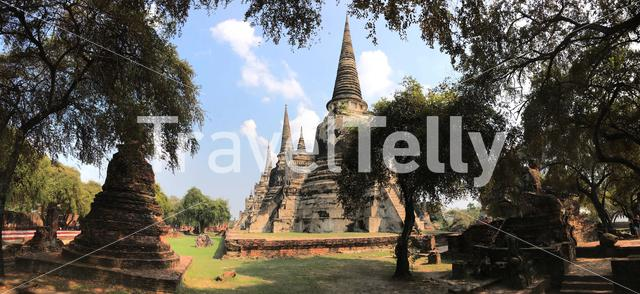 Panorama from the Wat Phra Sri Sanphet the most important temple in the Ayutthaya Kingdom, Thailand