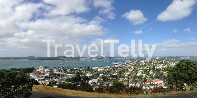 Auckland skyline panorama from Mount Victoria