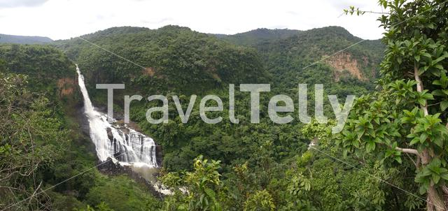 Panorama from the Sala Falls in Guinea, Africa