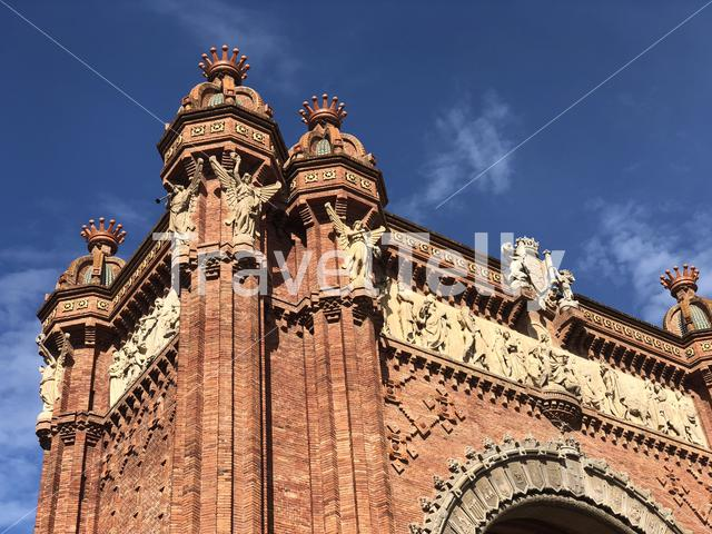 Close up from the Arc de Triomf in Barcelona Spain