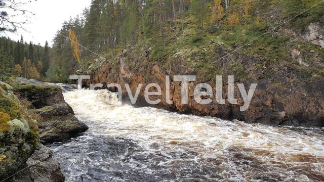 Wild river in Oulanka National Park Finland