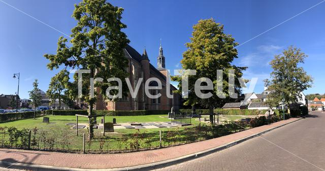 Panorama from The old Calixtus church in Groenlo, The Netherlands