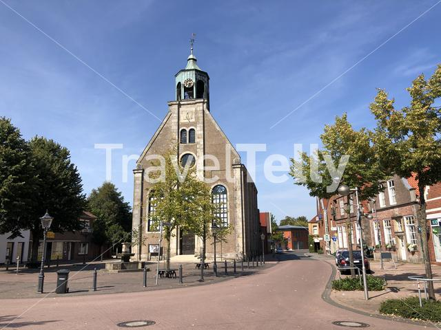 Church in old town of Neuenhaus, Germany