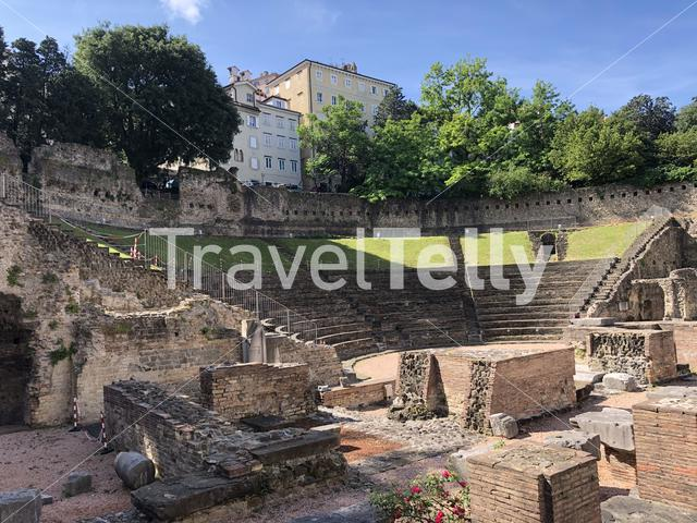 Roman Theatre of Trieste in Italy