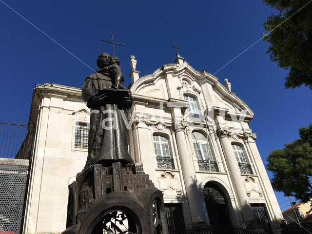 Church of Santo António With a statue in Lisbon Portugal