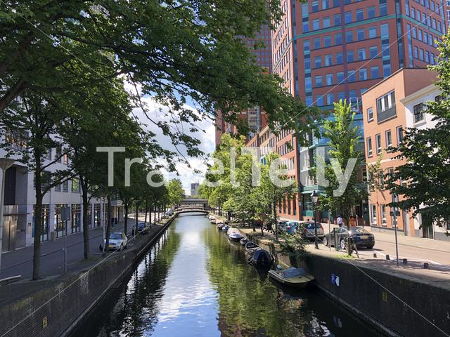Canal in The Hague, The Netherlands