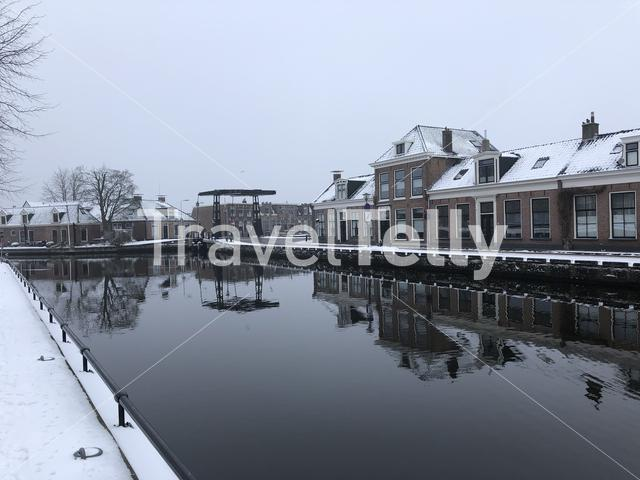 Canal around Sneek during winter
