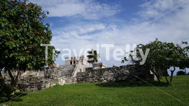 Ancient Mayan fortress in Tulum Yucatan, Mexico