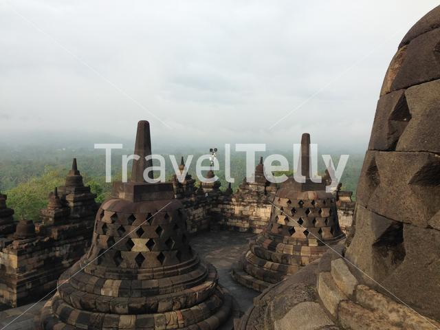 The Borobudur Temple a 9th-century Mahayana Buddhist temple in Magelang, Central Java, Indonesia