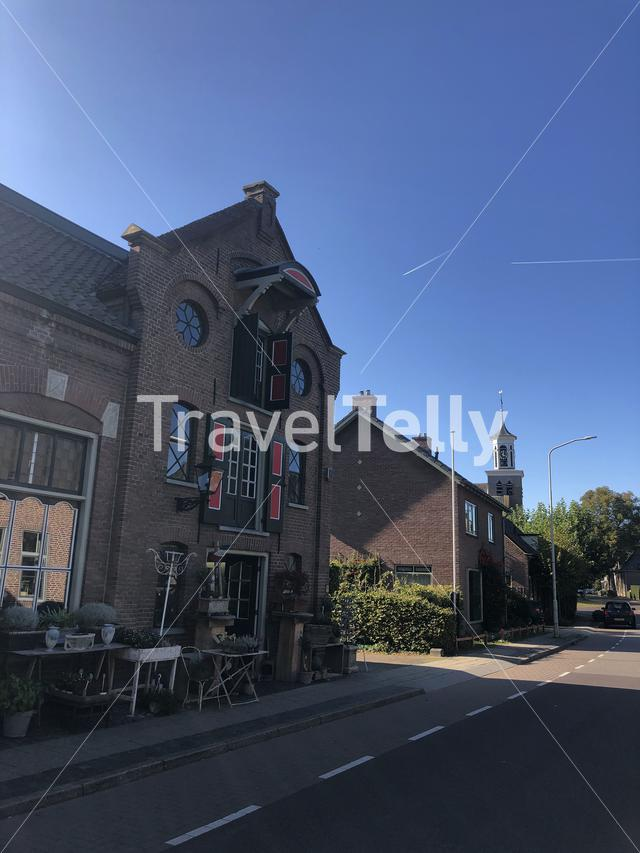 Street in Hummelo in Gelderland, The Netherlands