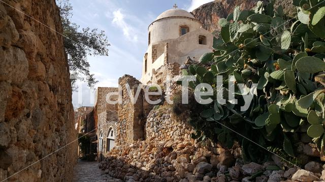 Church in the old town of Monemvasia Greece