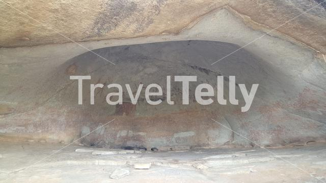 Rock art at  a cave in Matobo National Park in Zimbabwe