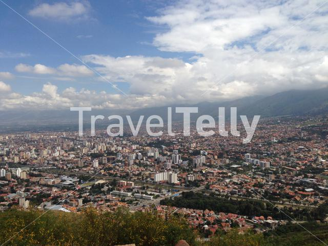 View from the San Pedro Hill in Cochabamba, Bolivia.