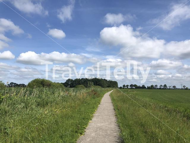 Walk and cycle path around Weidum in Friesland The Netherlands