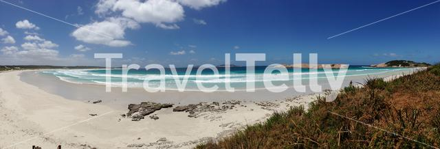 Panorama from Blue Haven beach in Esperance Australia