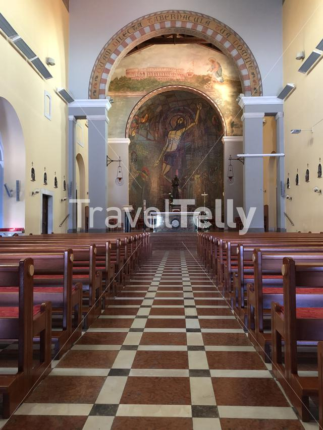 Inside the Sveti Antun church in Pula, Croatia