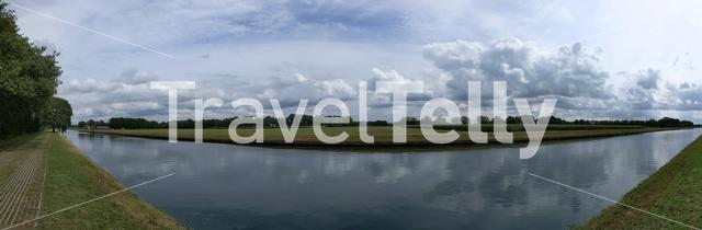 Panorama from a canal around Hardenberg, The Netherlands