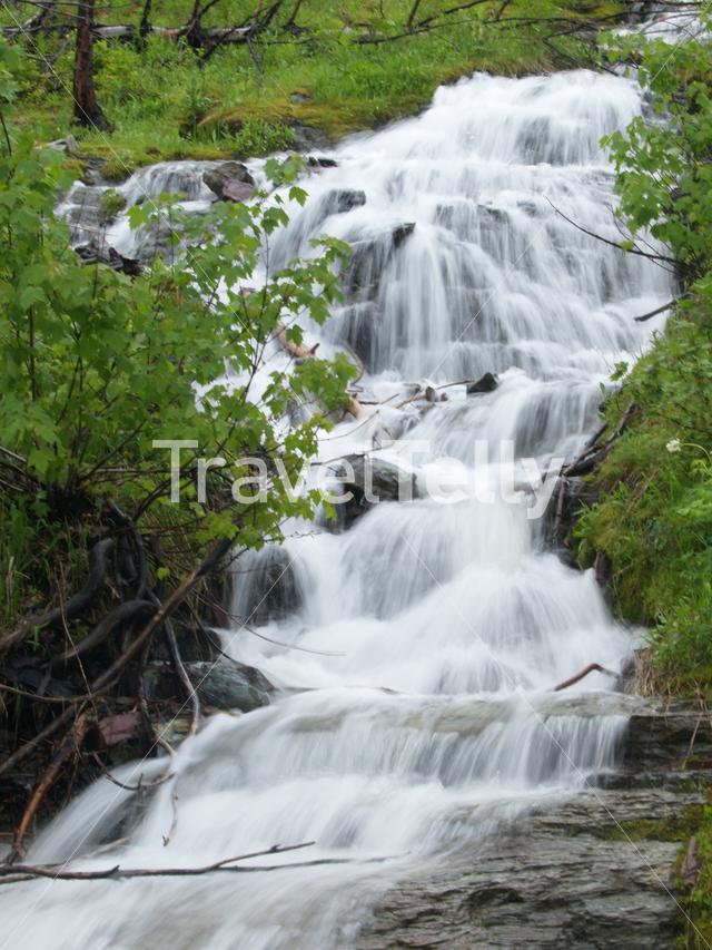 Waterfall in Grand Teton National Park