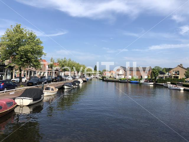 Canal in Joure, Friesland The Netherlands