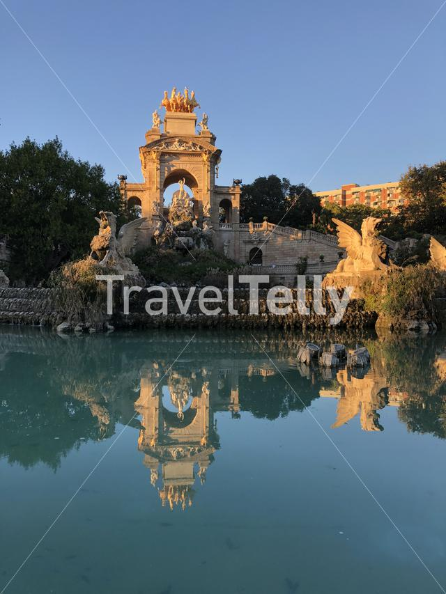 Cascada Monumental in Ciutadella Park in Barcelona Spain