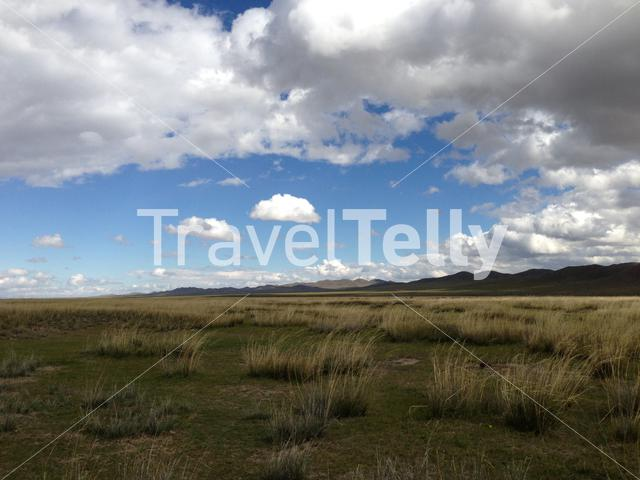 Countryside landscape in Mongolia
