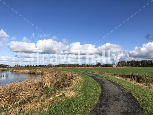 A path through a nature reserve around Wolvega in Friesland, The Netherlands