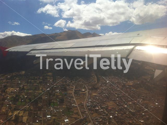 Flying over Cusco Peru