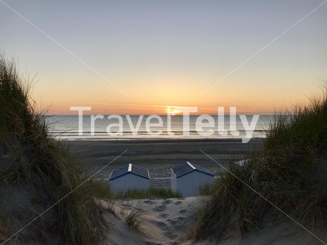 Sunset at Texel, Netherlands