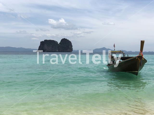 Long-tail boat on Koh Ngai Thailand