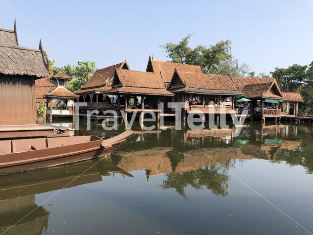 The floating market in the Ancient Siam, Thailand