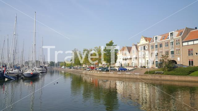 Harbor of Medemblik in North Holland