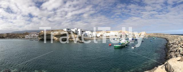 Panorama from the harbour in San Miguel de Tajao on Tenerife