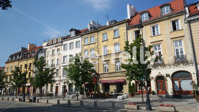 Street close to the Historic Centre of Warsaw