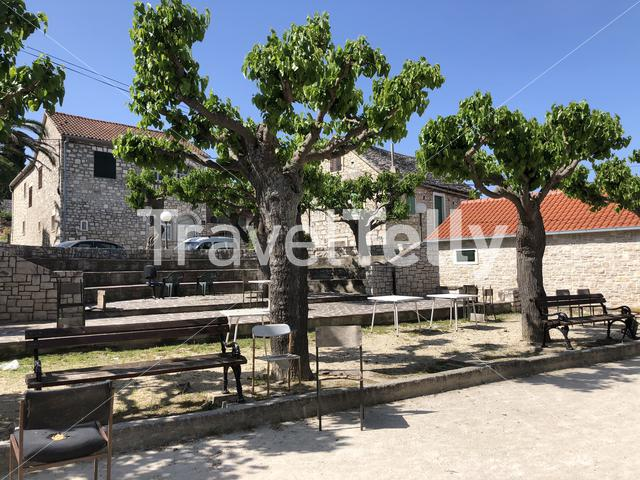 Square in the old town of Supetar in Croatia