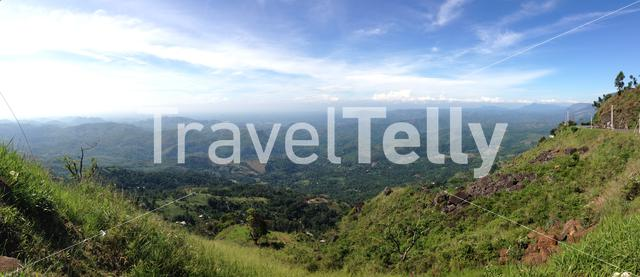 Panoramic landscape from the countryside of Sri Lanka