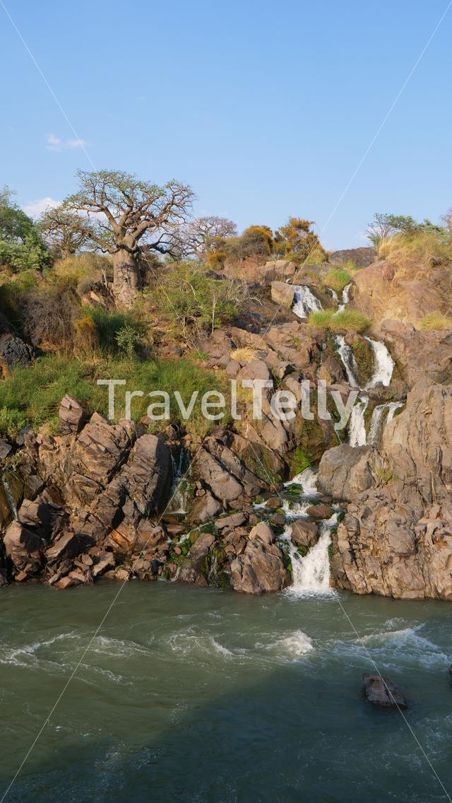 The Epupa Falls in Namibia