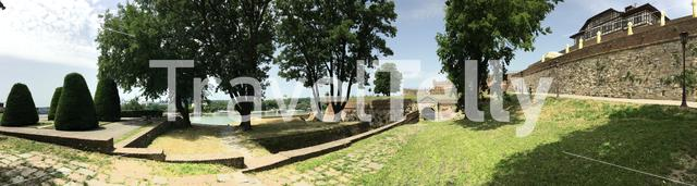 Panorama view from the Kalemegdan Fortress in Belgrade Serbia