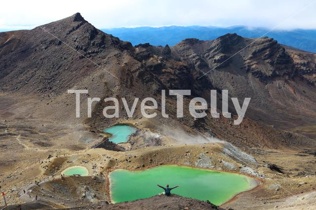 Tongariro Crossing New Zealand view from the top