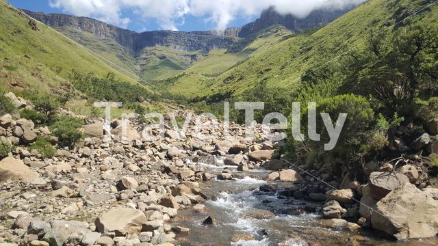 River at the Drakensberg Mountain Range in South Africa