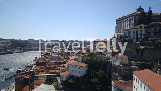 Houses at the hill in Porto Portugal