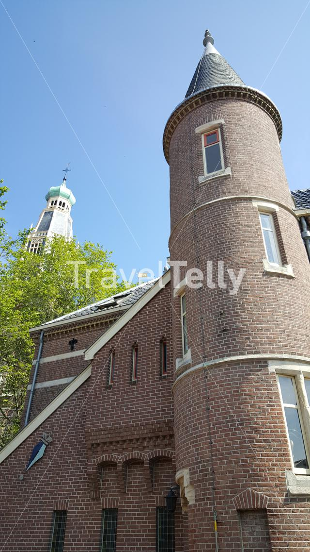 Tower house and Saint Pancratius Church in Enkhuizen