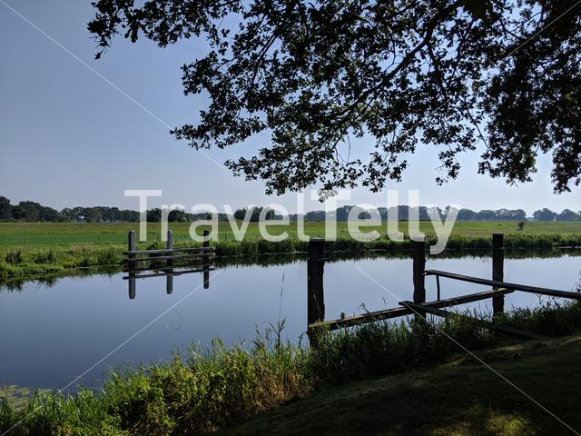 River the Vechte in Overijssel, The Netherlands