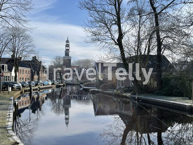 Aldeboarn on a winter day in Friesland The Netherlands